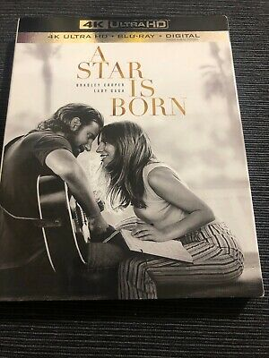 A Star Is Born 4K Ultra + Blu-Ray + NODigital HD Like New Ships Fast!!