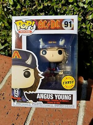 Funko POP Rocks AC/DC Angus Young #91 Chase Limited Edition   (0334)