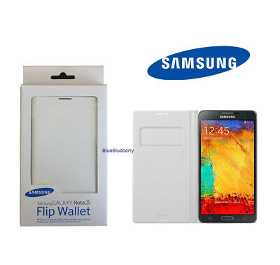 New OEM Samsung Galaxy Note 3 Wallet Flip Cover Case White