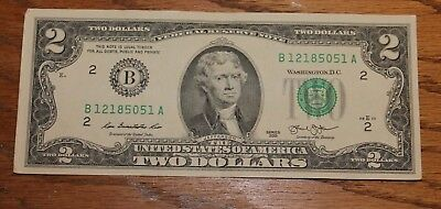 RARE CRISP 2013 UNCIRCULATED $2 BILL TWO DOLLAR NOTE B New York NY