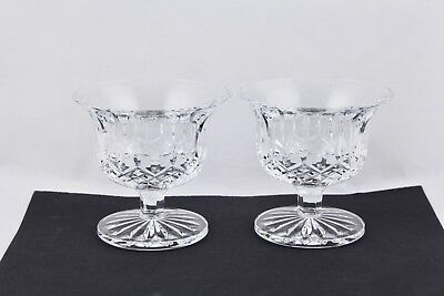 Set Of 2 Waterford Crystal Lismore Footed Dessert Bowl/compote Signed - Mint