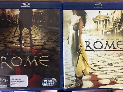 ROME - The Complete Season 1 & 2 10 x Disc BLURAY Set AS NEW! Series One Two