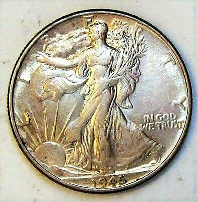 1945-P Walking Liberty Half - AU