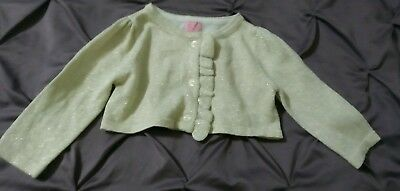 NWOT Baby Girls THE CHILDRENS PLACE Crop Shimmer Gold Sweater 9 12 Mos NEW
