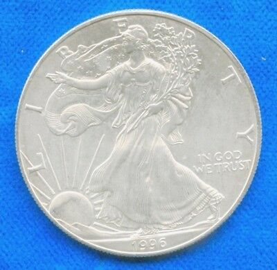 1996-1-oz-American-Silver-Eagle-Coin-One-Troy Key Date 1996   Lot 9