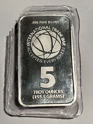 RMC, Commercial International Trade Bar 5 troy oz .999 Fine Silver Art Bar 2016