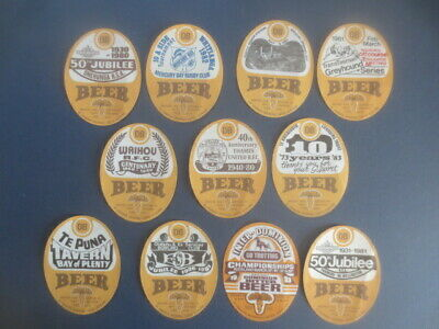 11 different  DOMINION Breweries Ltd. Auckland New Zealand BEER LABELS