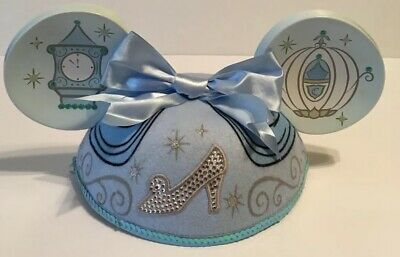 Disney Parks Cinderella Mickey Minnie Mouse Ears Hat