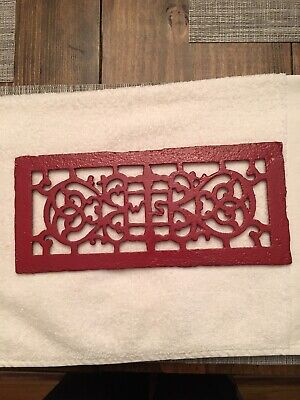 Antique Red Cast Iron Heat Vent/Register