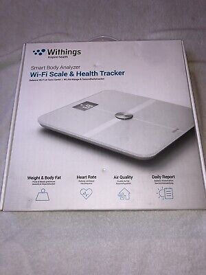 Withings Smart Body Analyzer (WS-50) Bluetooth WiFi Bathroom Scale Used Once