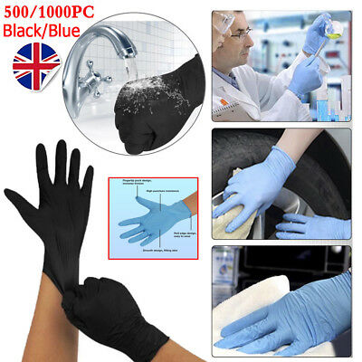 500/1000pc Disposable Powder Free Latex Nitrile Gloves Food Medical Surgical M/L