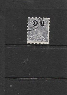 STAMPS AUST  KGV 3d BLUE  OPTD O S C OF A WMK FINE USED