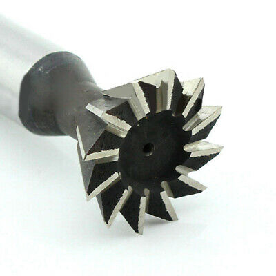 25mm X 60 Degree 10-Flutes High Speed Steel Dovetail Cutter End Mill Bit Router~