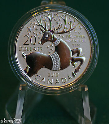 2012 CANADA $20 for $20 Magical Reindeer silver: #6 in series - lowest mintage