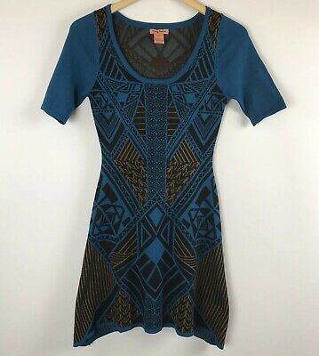 96bd6b043e8 Flying Tomato Women's Knit Thick Tunic Sweater Dress size S Anthropologie  Blue