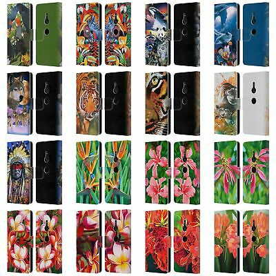 Official Graeme Stevenson Assorted Designs Leather Book Case For Sony Phones 1