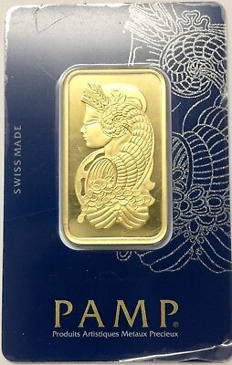 1 oz Gold Bar - PAMP Suisse Lady Fortuna Veriscan® (In Assay) .9999 Fine