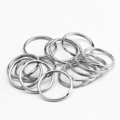 "5/10/50/100/500PCS 25mm/1"" Stainless Steel Key Rings Key Chains Split Rings Kit"