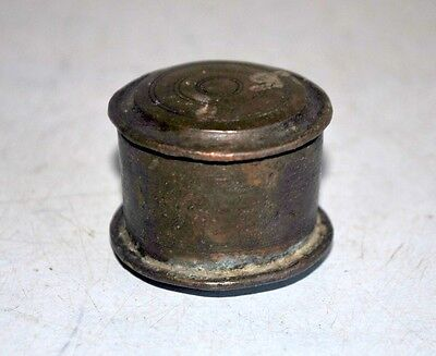 Old Antique India Brass Hand Crafted Turkish Ottoman Islamic Opium Snuff Box