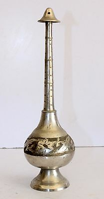 Collectible Vintage Old North Indian Brass Islamic Rose Water Perfume Bottle