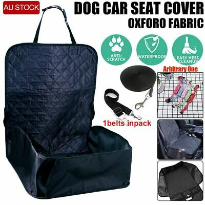 AU Black Car Seat Protector Cover Mat Single Front Seat for Pet Dog Cat Outdoor