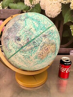 Vintage 1970s World Ocean Series Replogle Globe USA 12 Inch High Relief 3D qzzq