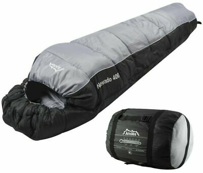 Andes Nevado 400 Mummy Sleeping Bag Warm 400GSM Filling - Compression Carry Bag