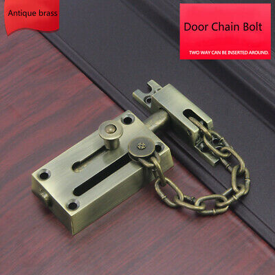 Stainless Steel Chain Bolts Safety Sliding Door Hasp Latches Home Lock Pickproof