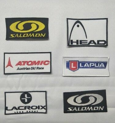 ECUSSON PATCH SALOMON SKI SNOWBOARD LACROIX HEAD ATOMIC  LAPUA esf ffs
