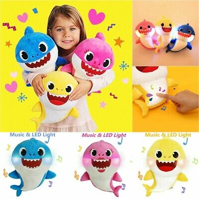Cute Cretive Family Baby Shark Toys Plush Soft Dolls Stuffed Toy Kids Best Gift