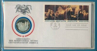 USA 1976 Commemorating Sterling Silver Bicentennial Medallic 1st Day Cover