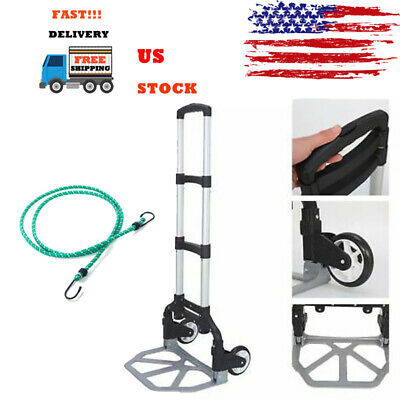 170lbs Cart Folding Dolly Portable Collapsible Trolley Push Hand Truck Luggage