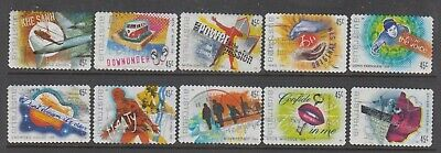 Australia 2001 Rock Australia fine used set 10 self adhesive stamps