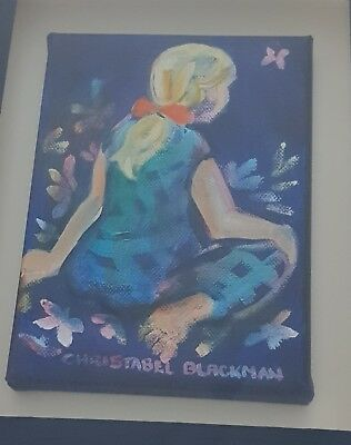 REDUCED. Christabel Blackman Original Painting - framed