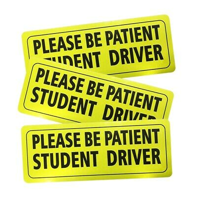 Set Of 3 Please Be Patient Student Driver Decal Reflective New Driver Decal C8L6