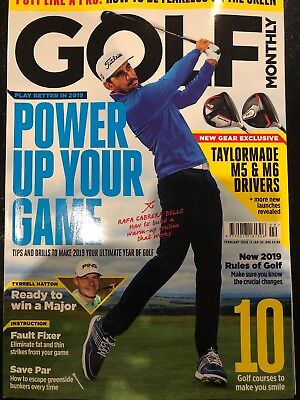 Golf Monthly Magazine Feb 2019 Brand New RRP £4.99 FREE DELIVERY