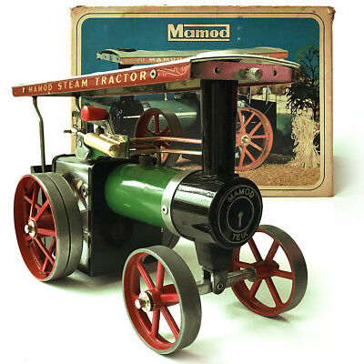 A Fine Vintage Mamod Te1A Working Live Steam Tractor Engine Complete In Box