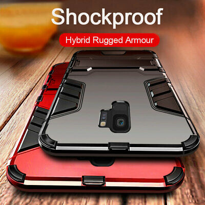 For Samsung Galaxy J4 J6 Plus J8 2018 Hybrid Armour Stand Shockproof Case Cover