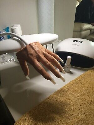 Practice hand for nails, Lifelike Quality Silicone right, left, hand available.