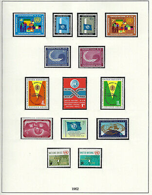 Timbres Nations Unies / United Nations Timbres Annee De 1962 Neuf N** Ttb