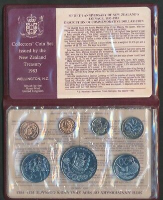 New Zealand: 1983 UNCIRCULATEDirculated Set, with $1, 50 Yrs of Coinage