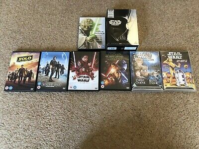 Star Wars DVD - All Main Story Plus Rogue One, Solo, Droids & Ewoks - 13 X Discs