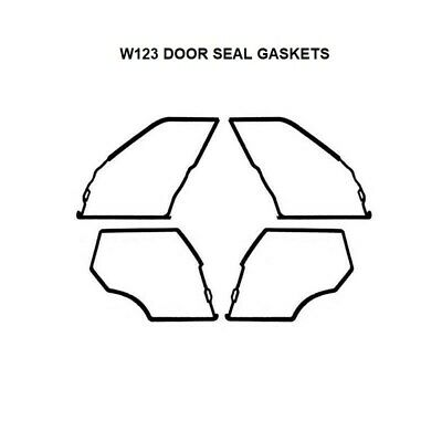 Mercedes W123 Sunroof Seal Gasket Set NEW FREE SHIPPING 230 240D 300D 280
