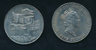 Great Britain: 1996 £5 Elizabeth II 70th Birthday Coin - Scarce