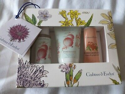 Crabtree And Evelyn Gift Set - Pomegranate, Handcream, Shower and Body Lotion