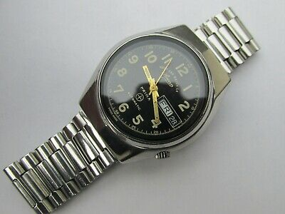 Vintage Men's West End Watch Co Prima D-Date Automatic Watch Free Intl Shipping