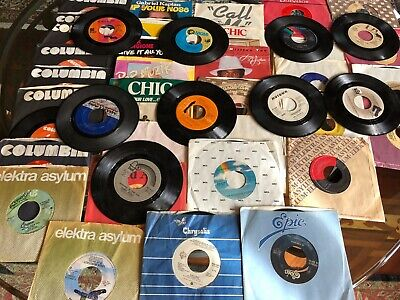 Lot of 43 random 45RP 70s 80s Pop Rock Soul Funk Jukebox Random Vinyl Record