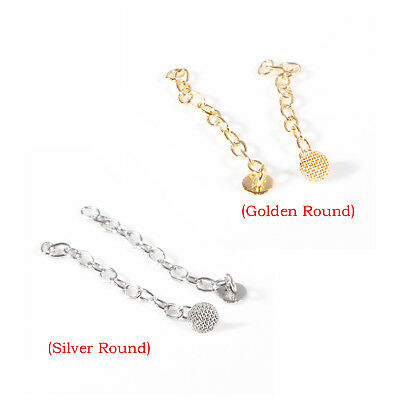 Dental Orthodontic Traction Chain Plated Round Buttons with Chain Silver-Gold UK