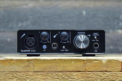 Focusrite Scarlett Solo MkII 2-In/2-Out Scarlett Mic Preamp USB Audio Interface