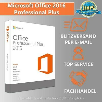 MS Office 2016 Professional Plus DE Vollversion 32/64 Bit eBay Versand